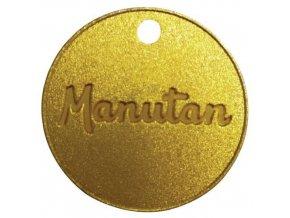 Mosazný žeton Manu, průměr 30 mm, číslovaný 001 - 100