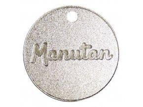 Hliníkové žetony Manutan, číslované 001 - 300