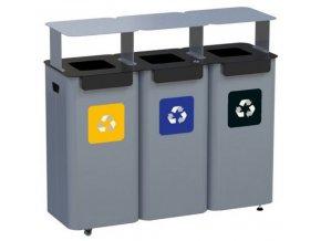 modulova stanice na trideni odpad ve skolach uradech nakupnich centrech 3moduly vcetne strisek