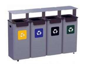 modulova stanice na trideni odpad ve skolach uradech nakupnich centrech 4moduly vcetne strisek