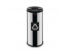 Kovové odpadkové koše Prestige EKO na tříděný odpad, objem 45 l