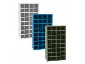 kovove dilenske skrine s prihradkami sfr321 180 x 100 x 50 cm