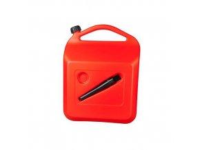 Kanystry na pohonné hmoty, červené, 5 - 20 l