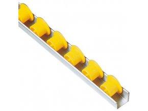 Kladičková lišta, plast, šířka 35 mm, rozteč 50 mm