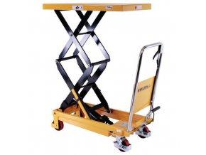 Mobilní hydraulický zvedací stůl, do 350 kg, deska 91 x 50 cm