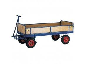 Ruční plošinový vůz se čtyřmi stěnami s plnou výplní, do 600 kg