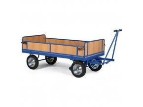 Ruční plošinový vůz se čtyřmi stěnami s plnou výplní, do 1 500 kg