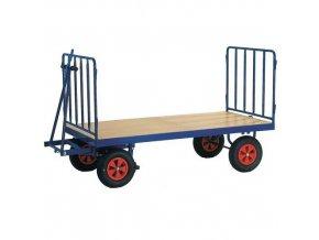 Ruční plošinový vůz se dvěma stěnami s mřížovou výplní, do 600 kg