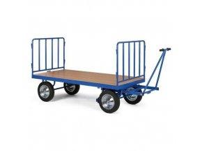 Ruční plošinový vůz se dvěma stěnami s mřížovou výplní, do 1 500 kg
