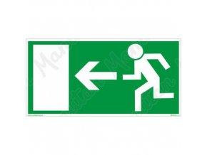 Únikové fotoluminiscenční bezpečnostní tabulky - Únikový východ vlevo
