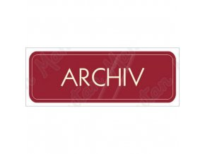 Informační tabulky - Archiv