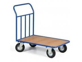 Plošinový vozík s vyztuženým madlem, do 300 kg