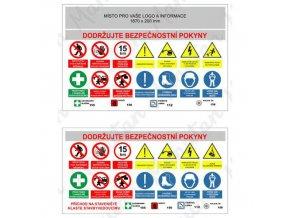 Informační tabulky - Areál stavby bezpečnostní banner