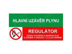 Tabulky bezpečí - Hlavní uzávěr plynu