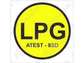 Výstražná tabulka - LPG značení vozidla