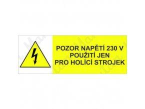 Výstražná tabulka - Napětí 230V