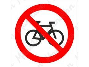 Zákazová tabulka - Zákaz jízdy na kole