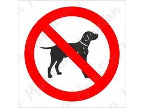 Zákazová tabulka - Zákaz vstupu se psem