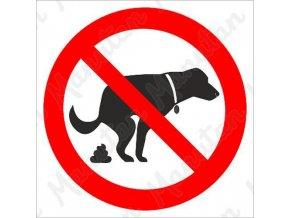 Zákazová tabulka - Zákaz venčení psů
