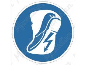 Příkazová tabulka - Používej vodivou obuv