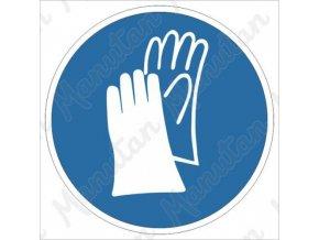 Příkazová tabulka - Používej ochranné rukavice