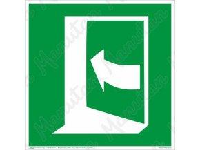 Tabulky bezpečí - Dveře se otevírají tlačením na levé straně