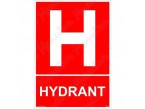 Požární tabulka - Hydrant
