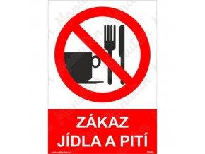 Zákazová tabulka - Zákaz jídla a pití