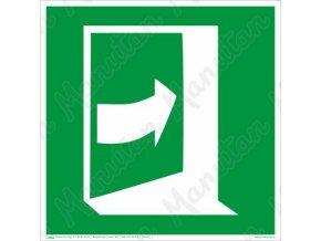 Tabulky bezpečí - Dveře se otevírají tlačením na pravé straně