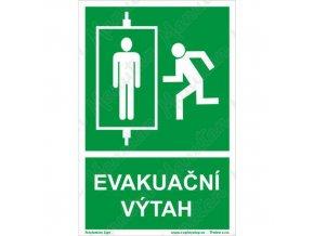 Tabulky bezpečí - Evakuační výtah