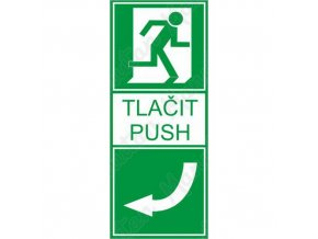 Tabulka bezpečí - Tlačit vlevo