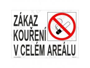 Zákazová tabulka - Zákaz kouření v celém areálu