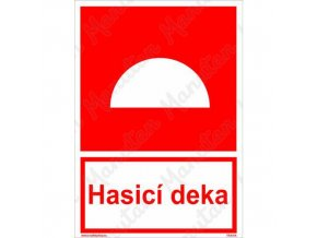 Požární tabulky - Hasicí deka