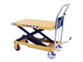 Mobilní hydraulický zvedací stůl Manu, do 1 000 kg, deska 101,5 x 51,5 cm