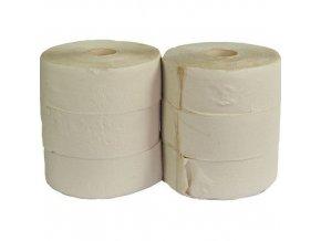 Toaletní papír Jumbo 1vrstvý, 24 cm, 200 m, 45% bílá, 6 rolí