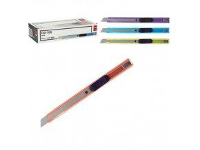 Nůž DELI 135mm odlamovací kovový, mix, 24ks