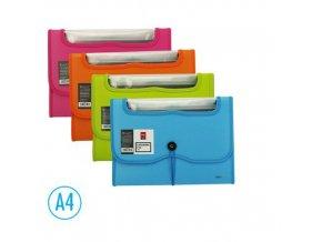 Desky na spisy DELI A4 7 přihrádek, modré