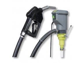 Elektrické sudové čerpadlo s automatickou tankovací pistolí pro výdej nafty