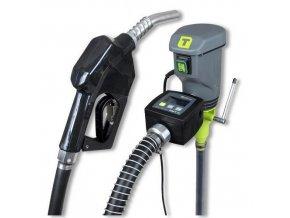 Elektrické sudové čerpadlo s automatickou výdejní pistolí a průtokoměrempro výdej nafty