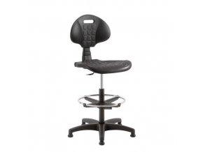 Zvýšená pracovní židle Kent PK s kluzáky