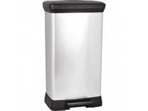 Plastový odpadkový koš Decobin, objem 50 l
