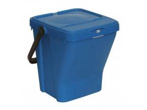 Odpadkový koš Rolland na tříděný odpad, objem 35 l, modrý