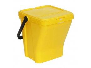 Odpadkový koš Rolland na tříděný odpad, objem 35 l, žlutý