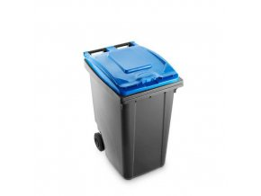 Plastová popelnice Benny na tříděný odpad, objem 360 l, šedá/modrá