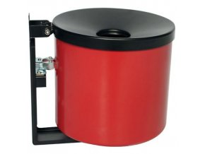 Nástěnný popelník Manu Round, červený