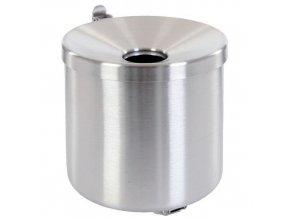 Nástěnný popelník Manu Round, stříbrný