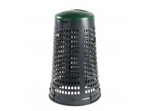 Stojan Element na odpadkové pytle s víkem, šedý/zelený