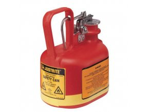 Plastová bezpečnostní nádoba na hořlaviny Justrite s úchytem, červená, 2 l