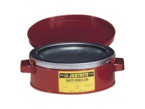 Bezpečnostní nádoba na hořlaviny Justrite na mytí nářadí, červená, 1 l