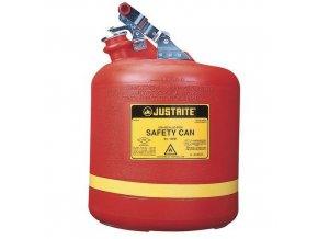 Plastová bezpečnostní nádoba na hořlaviny Justrite, červená, 2 l